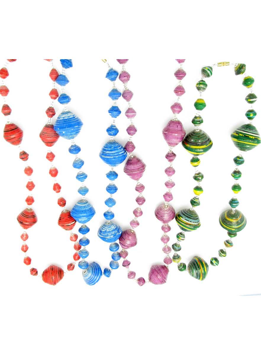 Solid colors gigantic bead necklace - short length